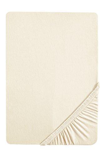 flanell spannbettlaken biberna 12344 Frottee-Stretch Spannbetttuch, ca. 90 x 190 cm bis 100 x 200 cm, nach Öko-Tex Standard 100, natur