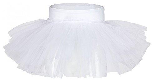 tu Ballettrock Pia aus weicher Baumwolle und Tüll zum Reinschlüpfen - Tuturock in weiß, Größe:128/134 ()