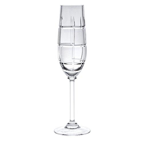 Victoria Kristall chesset Champagner Flöten 24% geschliffenes Bleikristall 100% Handgefertigt (Set von 6) Cut Punch Bowl