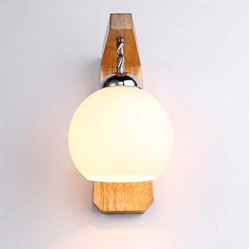 Wandleuchten Wandspots Wandbeleuchtung Wandlichter Nachtwandlampe Massivholzlampe Wandlampe Schlafzimmer Chinesische Wandlampe Bett Kopfteil Kreative Moderne Wandlampe Gang Sphärische -