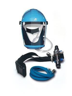 Anest Iwata's VIUAF2010KIT Air Breathing Protective Mask Set very easy to wear and highly functional It complies with European Regulations for compressed air equipmen/throat protection.