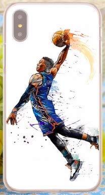 Art Design Hülle für iPhone X/iPhone XS Russell Westbrook Oklahoma City 0 OKC Basketball NBA Soft Silikon