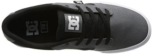 DC Shoes Anvil Tx, Chaussures basses hommes Gris foncé, noir