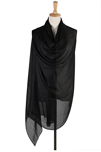 PB-SOAR Lightweight Silk Scarf Solid Color Long Scarf Shawl Stole Wrap for Evening Dresses, 18 Colors Available
