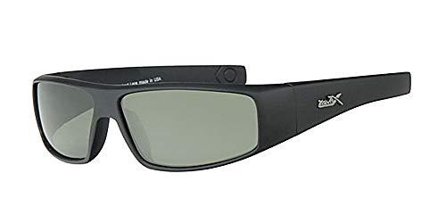 Polarisiert und Sonnenbrille + Gratis Gelb Halskordel + Gratis Tasche, Rahmen schwarz, grün um Objektiv