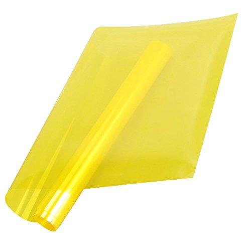 Emmala Colorful Getönte Fenster Folie Selbstklebend Hitze Kontrolle Deko Glas Unikat 50 X 499,9 cm Blau 19.7 X196.8 (Color : Gelb, Size : Size)