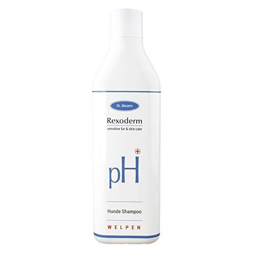 Dr. Mosers REXODERM Welpen-Shampoo | Extra mild und sensitiv | Geschmeidiges Fell | angenehmer Geruch | Beruhigt die Haut | Bio-Hundeshampoo ohne Silikone (300 ml) (Welpen-shampoo)
