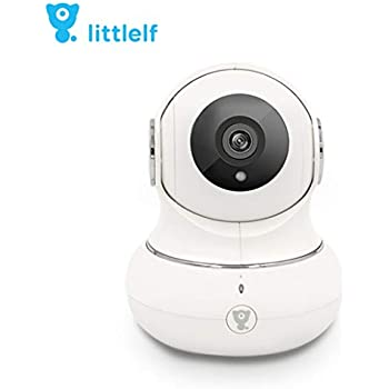 (Renewed) D3D LittleLF 1080P WiFi Home Security Camera 360 PTZ with Emergency Call Button (White)