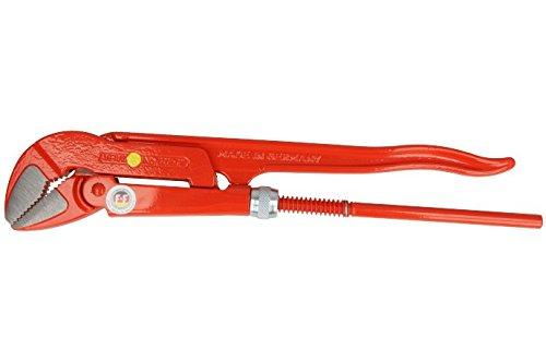 VBW Eckrohrzange, poliert, 1 Zoll, 45 Grad, rot lackiert, 87111010