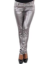 Sotala Damen Kunstleder Hose Biker Leder-Optik Leder-Look Wet-Look Leder-Imitat  Röhrenhose Skinny Slim Fit Stretchhose Damenhose… 57bdb7f793