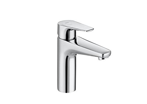 Roca A5A3990C00 – Mezclador monomando para lavabo con caño mezzo, cuerpo liso, cold start