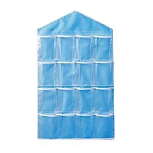 16 Taschen Klar Über Tür Hängen Tasche Kleiderbügel Lagerung Tidy Organizer Für Haus Badezimmer Wohnzimmer Haushalt Kleinigkeiten