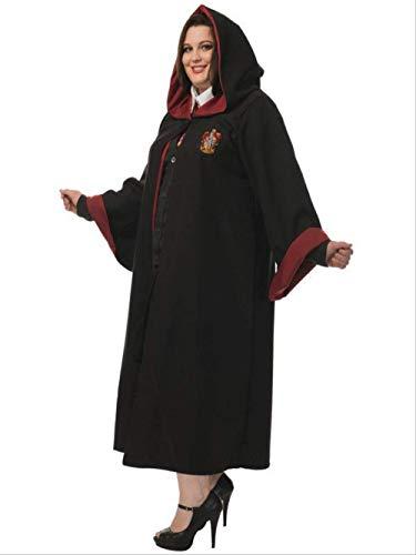 Halloween Hogwarts Schule der Magie, Student Lehrer Robe Wizard Hexenkostüm, Rollenspiel Uniform XL (Tanz Kostüm Für Erwachsene Lehrer)