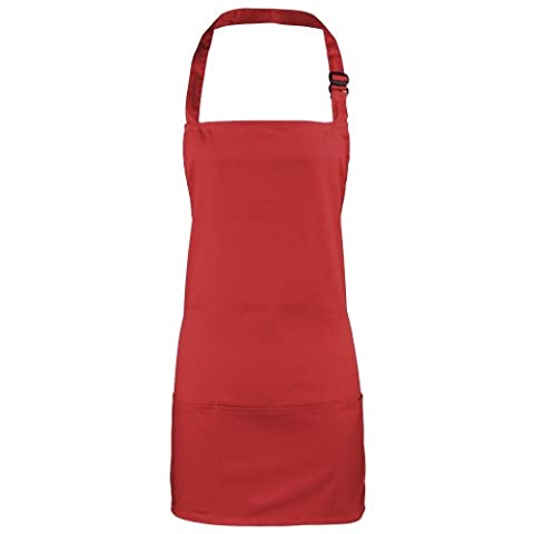 Premier Colours 2-in-1 Apron / Workwear (One Size) (Red)