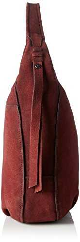 Marc O'Polo Damen Hobo Bag M Schultertaschen, 33x35x13 cm Rot (rosewood 339)
