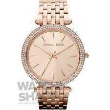 MK3192 Ladies Rose Gold Plated Stone Set Michael Kors Watch