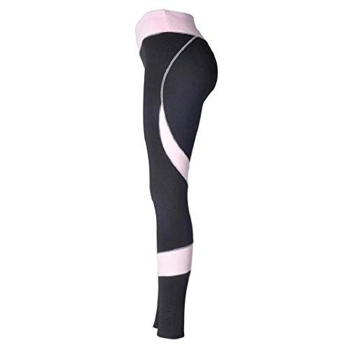 Mesdames Cousant des Pantalons de yoga,Sisit Femmes Skinny Leggings Taille Haute élastique Yoga Fitness Sports en Forme de Coeur Pantalons Noir