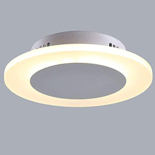 Fitting Blanco Sala Led Claro Estar Circular Sombra 3000k Para Acrílico Ip20 Ø230mm Moderna Hermosa Luz De Dormitorio Cocina Techo kXZTOPiu