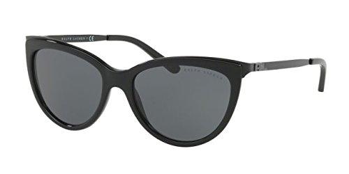 Ralph lauren 0rl81600187, occhiali da sole donna, nero (black/gray), 56
