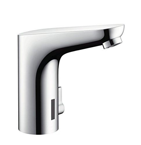 hansgrohe Focus Elektronik-Waschtischarmatur, Komfort-Höhe 130mm mit Temperaturregulierung und Netzanschluss, chrom (Komfort Shop)