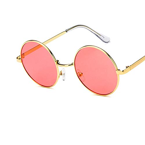 Daawqee NEW Round Sunglasses Women Metal Frame Ocean Color Lens Mirror Clear Lens Sun Glasses For Women Small Hip Hop Sunglasses Oculos C9