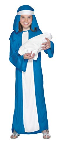 Smiffys, Kinder Mädchen Maria Kostüm, Kleid und Kopfbedeckung, Größe: L, - Maria Und Josef Krippe Kostüm