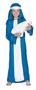 Smiffys Disfraz de Virgen María para niña, Azul, con Vestido y Adorno para la Cabeza