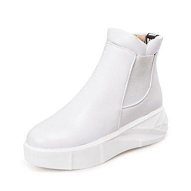 Rtry Femmes Chaussures Similicuir Hiver Printemps Confort Bootie Plate-forme Bottes Liane Bout Rond Bottines / Bottines Pour Casual Wear Gris Beige Us9.5-10 / Eu41 / Uk7.5-8 / Cn42