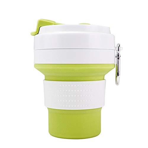 MUXItrade Faltbare Tasse, Silikon Becher Kaffee Camping Tasse Reise Geschenk Becher 350ml 100% Lebensmittelqualität Silikon BPA-frei geeignet für Outdoor-Aktivitäten Camping Wandern
