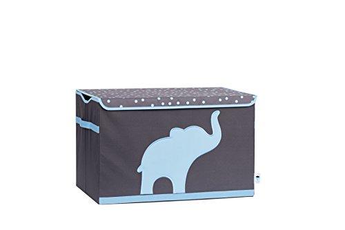 STORE.IT 670384 Spielzeugtruhe Elefant, Polyester/MDF, Grau-blau, 61 x 37 x 38 cm