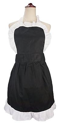 lilments Damen Rüschen Outline Retro Taschen Schürze Küche Kochen Reinigung Dienstmädchen Kostüm