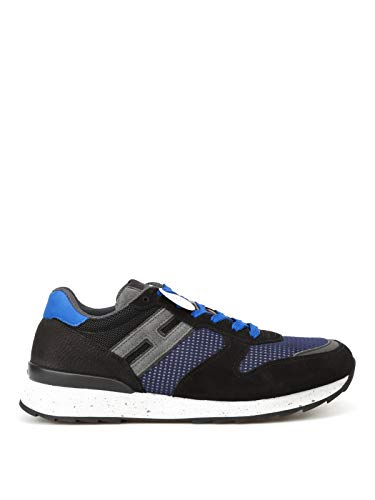 Hogan Men Sneaker Suede e Rete Running R261 Trainers