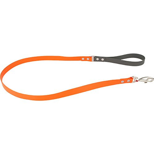 Red Dingo Vivid PVC Kunststoff orange Hundeleine, S