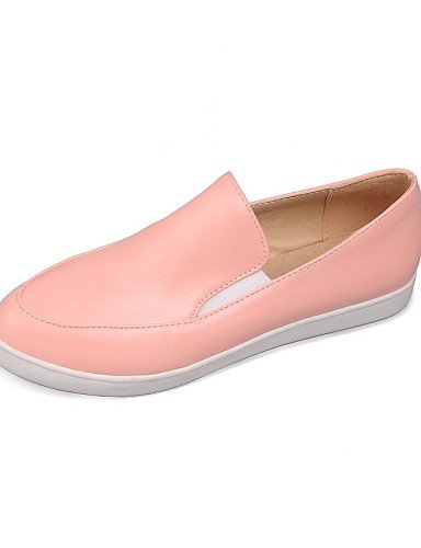 ZQ gyht Scarpe Donna - Mocassini - Casual - Punta arrotondata - Piatto - Finta pelle - Nero / Rosa / Bianco , pink-us8 / eu39 / uk6 / cn39 , pink-us8 / eu39 / uk6 / cn39 black-us6 / eu36 / uk4 / cn36