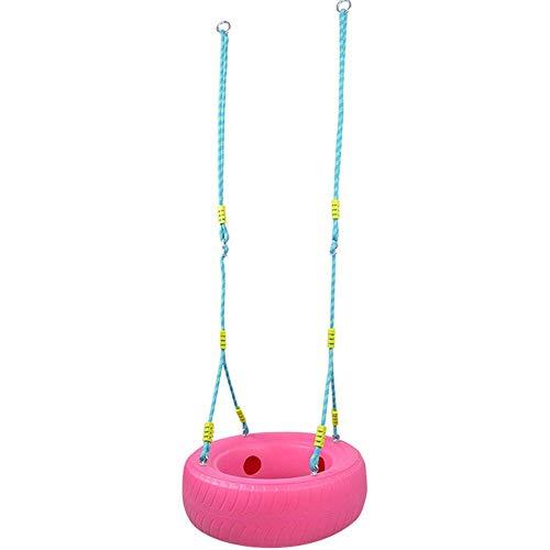 SZPDD Kinder Schaukel Baby Outdoor Puzzle Früherziehung Spielzeug Kunststoff Reifen Schaukeln,Pink -