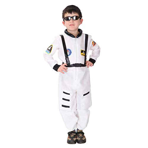 Toyvian Kids Astronaut Spaceman Costume Sets Role Play Costume for Fancy Ball Party Stage Perforamnce Size S