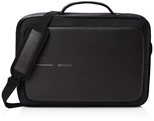 XD Design Bobby Bizz Anti-Diebstahl Laptop Rucksack & Aktentasche USB Schwarz