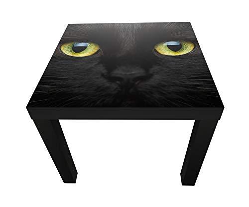wandmotiv24 Tabla Primer Plano de Gato Negro de Mesa de diseño ...