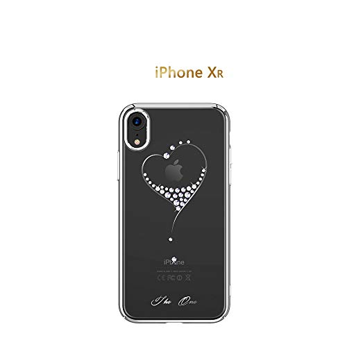 Per la custodia iphone x/xs/xr/xs max, cristalli di swarovski element, custodia for ragazze con diamanti bling aderente for apple iphone x (color : silver, size : iphone xr)