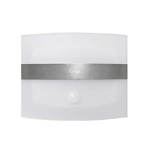 Taoyu Kabellose LED Wandleuchte mit Bewegungsmelder und Batteriebetrieben, Wandlampe für Menschlicher Infrarot-Sensor Bewerben auf Innen Treppe Flur Garage- Weißes - Sensor Garage Licht