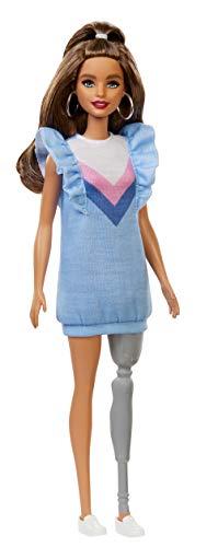 Barbie FXL54 Fashionistas Puppe mit Beinprothese, Spielzeug ab 3 Jahren