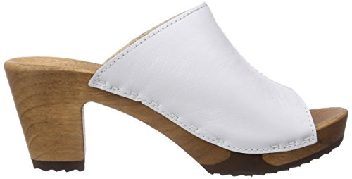 Woody - Elly, Zoccoli da donna bianco(Weiß (Weiss))