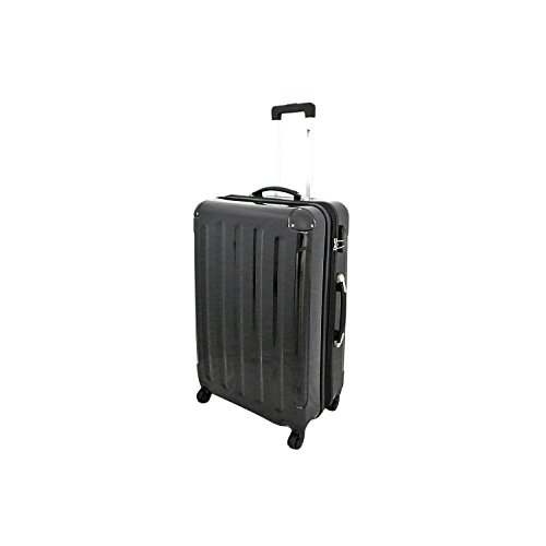 IMEX Hartschalen Koffer Trolley in SCHWARZ Größe XLARGE