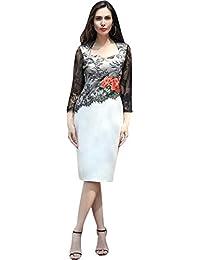 04629873e97 Jeansian Donne Ricamato Pizzo Elegante Abito Banchetto Vestito Manches 3 4  Designer Dress Pencil Skirts