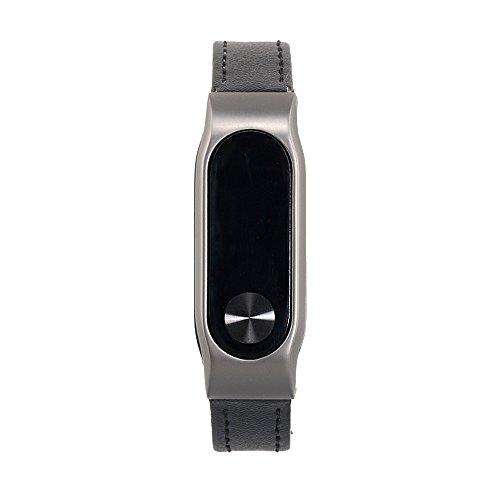 VAN+ Unisex verstellbar Leder Handgelenk Band Ersatz-Armband Strap für Xiaomi Mi Band 2 Smart Armband - 2