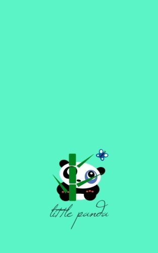 Little Panda: Gifts / Presents ( Cute Cartoon Panda & Butterfly Ruled Notebook ) (Kids 'n' Teens)