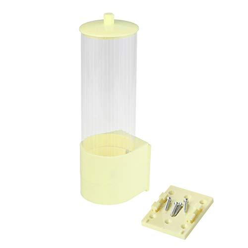 ser Wandmontage Wasser Einweg-Getränkehalter Dispenser Rack Box Container Kegel oder Flachboden Tassen (Gelb) ()