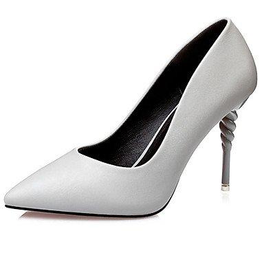 Moda Donna Sandali Sexy donna tacchi tacchi estate pu Casual Stiletto Heel altri nero / rosso / argento / grigio altri Silver