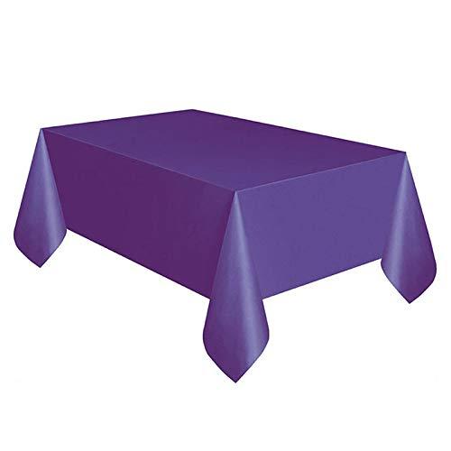 YHLVE Kunststoff-Tischdecke, groß, rechteckig, Kunststoff, Prinzessin, Kindergeburtstag, Party-Zubehör, Plastik, violett, 137cmx274cm