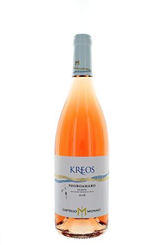 Kreos negroamaro rosato salento igt - castello monaci - vino rosato fermo 2017 - bottiglia 750 ml